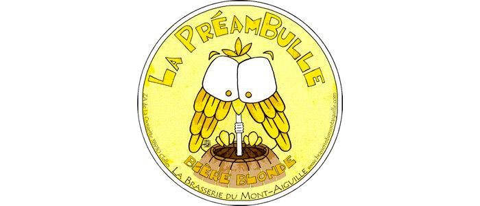 La Préambulle Bière Blonde - 4.5° ★★ Au guide Hachette des Bières  La plus ancienne bière de la brasserie (d'où son nom). Blonde, légère, à la fois fruitée et florale pour tout moment, toute humeur.