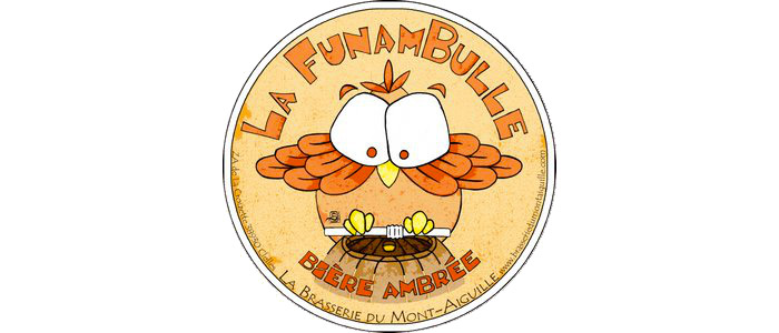 La Funambulle Bière Ambrée - 5.2° ★★ Au guide Hachette des Bières  Fourquet D'or 2016  Adoptez l'équilibre entre le goût du malt et le parfum légèrement agrume du houblon.